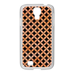 Circles3 Black Marble & Orange Watercolor (r) Samsung Galaxy S4 I9500/ I9505 Case (white)