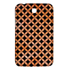 Circles3 Black Marble & Orange Watercolor (r) Samsung Galaxy Tab 3 (7 ) P3200 Hardshell Case  by trendistuff