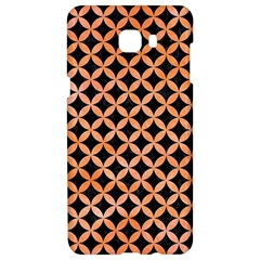 Circles3 Black Marble & Orange Watercolor (r) Samsung C9 Pro Hardshell Case  by trendistuff