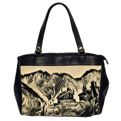 Ink Art Office Handbags (2 Sides)  by 8fugoso
