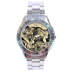 Ink Art Stainless Steel Analogue Watch by 8fugoso