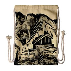 Ink Art Drawstring Bag (large) by 8fugoso