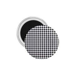 Classic Vintage Black And White Houndstooth Pattern 1 75  Magnet by Beachlux