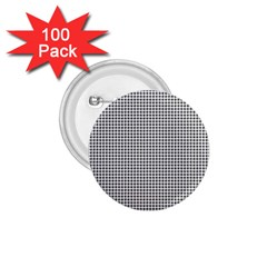 Classic Vintage Black And White Houndstooth Pattern 1 75  Button (100 Pack)  by Beachlux