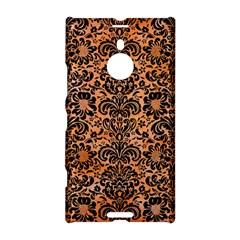 Damask2 Black Marble & Orange Watercolor Nokia Lumia 1520 by trendistuff