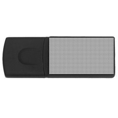 Classic Vintage Black And White Houndstooth Pattern Usb Flash Drive Rectangular (4 Gb) by Beachlux