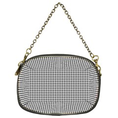 Classic Vintage Black And White Houndstooth Pattern Chain Purse (one Side) by Beachlux