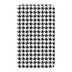 Classic Vintage Black And White Houndstooth Pattern Memory Card Reader (rectangular) by Beachlux