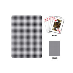 Classic Vintage Black And White Houndstooth Pattern Playing Cards (mini) by Beachlux