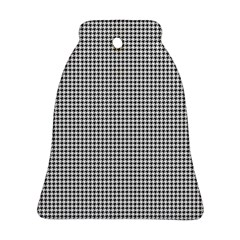 Classic Vintage Black And White Houndstooth Pattern Ornament (bell) by Beachlux