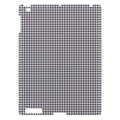 Classic Vintage Black And White Houndstooth Pattern Apple Ipad 3/4 Hardshell Case by Beachlux