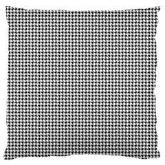Classic Vintage Black And White Houndstooth Pattern Large Cushion Case (two Sides) by Beachlux