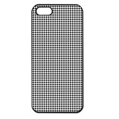 Classic Vintage Black And White Houndstooth Pattern Apple Iphone 5 Seamless Case (black) by Beachlux