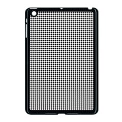 Classic Vintage Black And White Houndstooth Pattern Apple Ipad Mini Case (black) by Beachlux