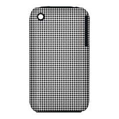 Classic Vintage Black And White Houndstooth Pattern Apple Iphone 3g/3gs Hardshell Case (pc+silicone) by Beachlux