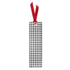 Classic Vintage Black And White Houndstooth Pattern Small Book Mark by Beachlux