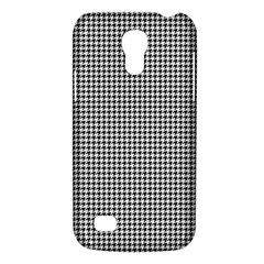 Classic Vintage Black And White Houndstooth Pattern Samsung Galaxy S4 Mini (gt I9190) Hardshell Case  by Beachlux