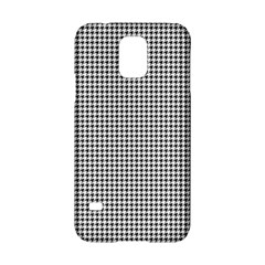 Classic Vintage Black And White Houndstooth Pattern Samsung Galaxy S5 Hardshell Case  by Beachlux