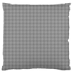 Classic Vintage Black And White Houndstooth Pattern Large Flano Cushion Case (one Side) by Beachlux