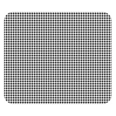 Classic Vintage Black And White Houndstooth Pattern Double Sided Flano Blanket (small) by Beachlux
