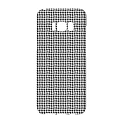 Classic Vintage Black And White Houndstooth Pattern Samsung Galaxy S8 Hardshell Case  by Beachlux