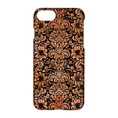 Damask2 Black Marble & Orange Watercolor (r) Apple Iphone 7 Hardshell Case by trendistuff