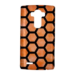 Hexagon2 Black Marble & Orange Watercolor Lg G4 Hardshell Case by trendistuff