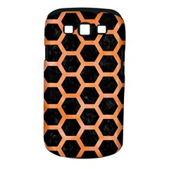 Hexagon2 Black Marble & Orange Watercolor (r) Samsung Galaxy S Iii Classic Hardshell Case (pc+silicone) by trendistuff