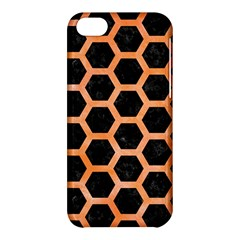 Hexagon2 Black Marble & Orange Watercolor (r) Apple Iphone 5c Hardshell Case by trendistuff