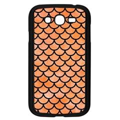 Scales1 Black Marble & Orange Watercolor Samsung Galaxy Grand Duos I9082 Case (black) by trendistuff