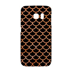 Scales1 Black Marble & Orange Watercolor (r) Galaxy S6 Edge by trendistuff