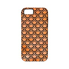 Scales2 Black Marble & Orange Watercolor Apple Iphone 5 Classic Hardshell Case (pc+silicone) by trendistuff