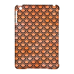 Scales2 Black Marble & Orange Watercolor Apple Ipad Mini Hardshell Case (compatible With Smart Cover) by trendistuff