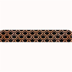 Scales2 Black Marble & Orange Watercolor (r) Small Bar Mats
