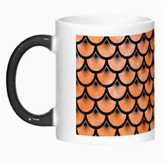 Scales3 Black Marble & Orange Watercolor Morph Mugs by trendistuff