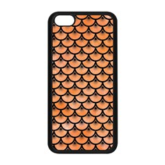 Scales3 Black Marble & Orange Watercolor Apple Iphone 5c Seamless Case (black) by trendistuff