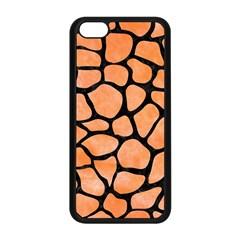 Skin1 Black Marble & Orange Watercolor (r) Apple Iphone 5c Seamless Case (black) by trendistuff