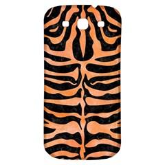 Skin2 Black Marble & Orange Watercolor (r) Samsung Galaxy S3 S Iii Classic Hardshell Back Case by trendistuff