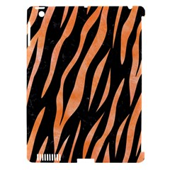 Skin3 Black Marble & Orange Watercolor (r) Apple Ipad 3/4 Hardshell Case (compatible With Smart Cover) by trendistuff