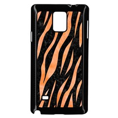 Skin3 Black Marble & Orange Watercolor (r) Samsung Galaxy Note 4 Case (black) by trendistuff