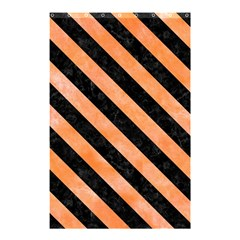 Stripes3 Black Marble & Orange Watercolor Shower Curtain 48  X 72  (small)  by trendistuff