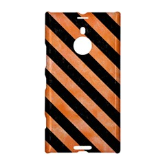 Stripes3 Black Marble & Orange Watercolor Nokia Lumia 1520 by trendistuff