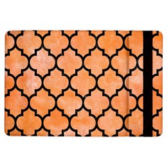 Tile1 Black Marble & Orange Watercolor Ipad Air Flip