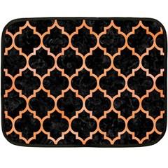Tile1 Black Marble & Orange Watercolor (r) Fleece Blanket (mini) by trendistuff