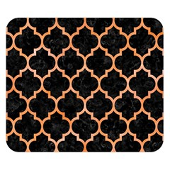 Tile1 Black Marble & Orange Watercolor (r) Double Sided Flano Blanket (small)  by trendistuff