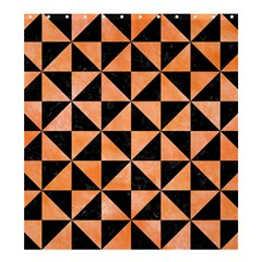 Triangle1 Black Marble & Orange Watercolor Shower Curtain 66  X 72  (large)  by trendistuff