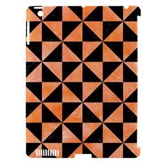 Triangle1 Black Marble & Orange Watercolor Apple Ipad 3/4 Hardshell Case (compatible With Smart Cover) by trendistuff