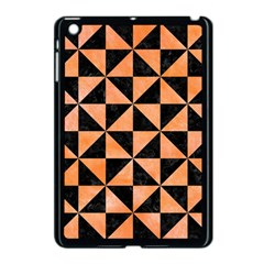 Triangle1 Black Marble & Orange Watercolor Apple Ipad Mini Case (black) by trendistuff