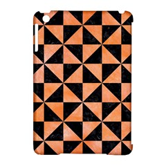 Triangle1 Black Marble & Orange Watercolor Apple Ipad Mini Hardshell Case (compatible With Smart Cover) by trendistuff