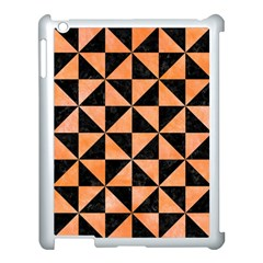 Triangle1 Black Marble & Orange Watercolor Apple Ipad 3/4 Case (white) by trendistuff